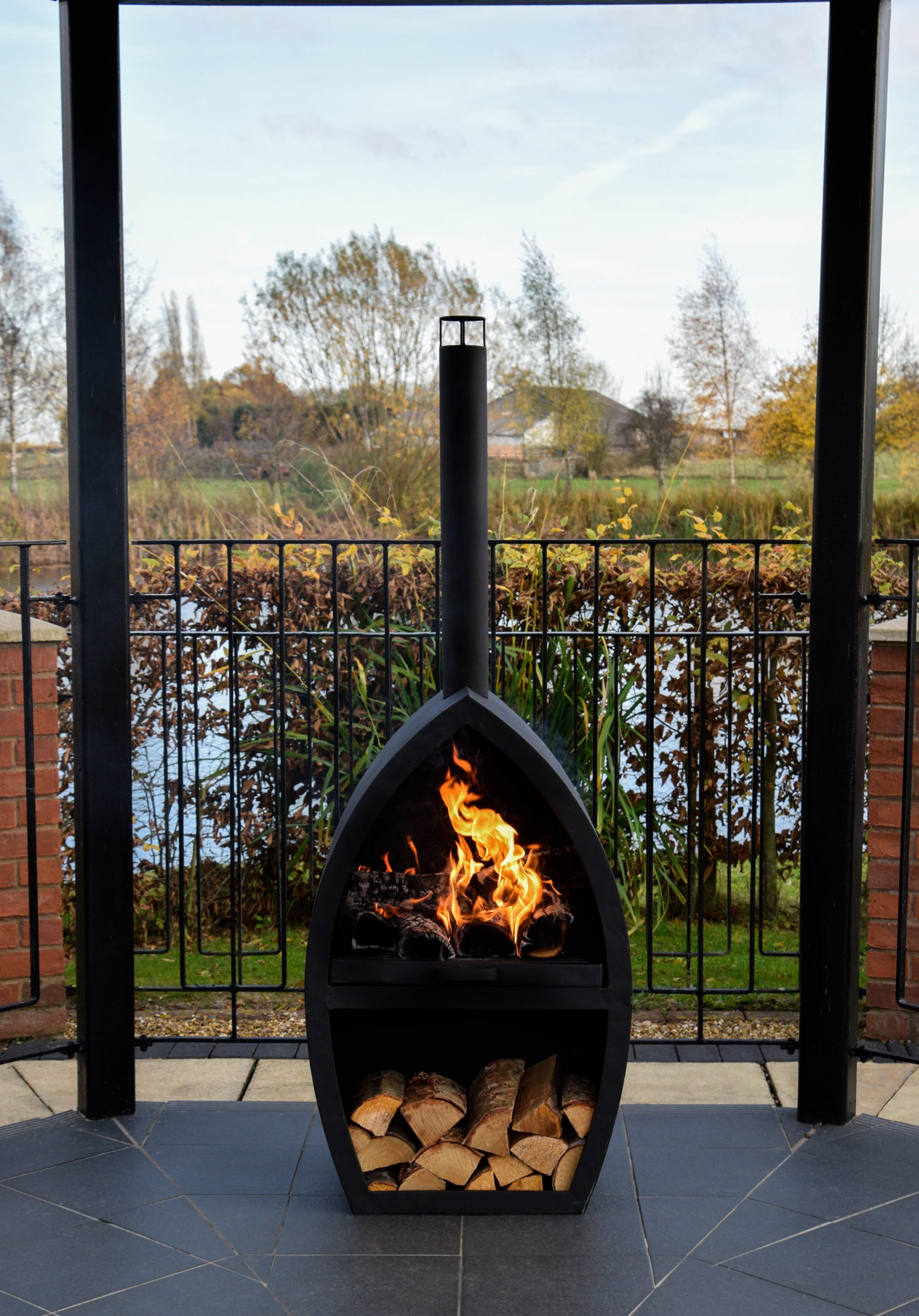 Ivyline Poole Large Outdoor Fireplace Pits Pots And Patios